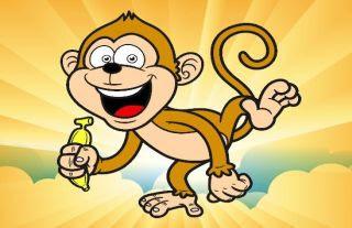 Los monos y los 2 viajeros