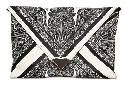 etro printed leather envelope clutch
