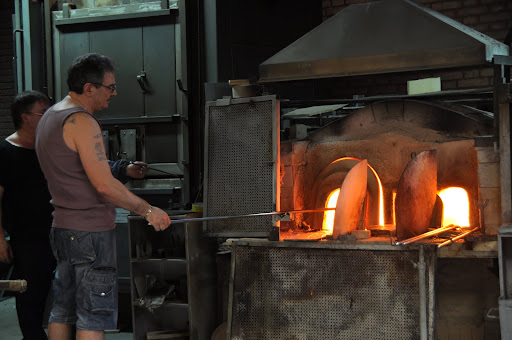 Glass blowers on Murano