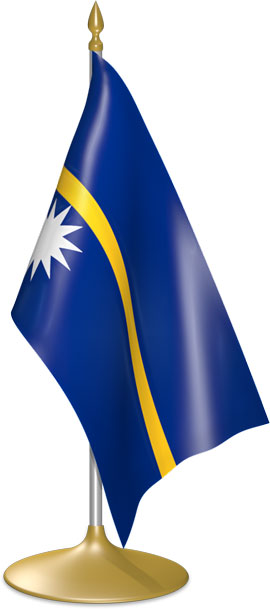 Nauruan table flags - desk flags