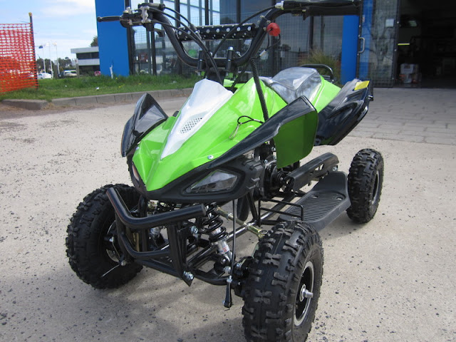 49cc Kids Quad Bike ATV Green Raptor Design