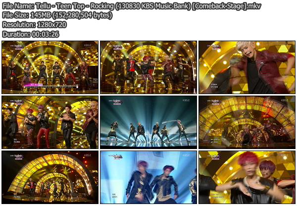 [Perf] Teen Top - Rocking @ 130830 KBS Music Bank [Comeback Stage]