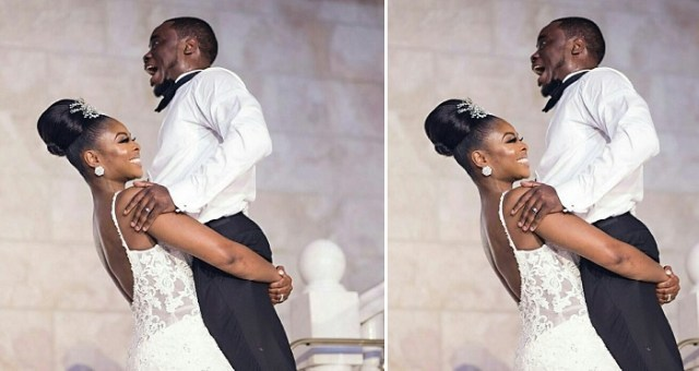Bride Carrying Her Husband On Their Wedding Day Goes Viral (Photos)