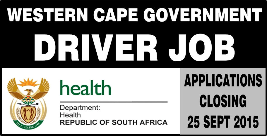 western cape government has a vacancy available for a driver