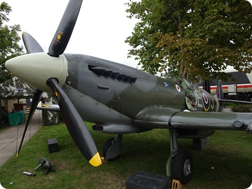 Replica Spitfire fighter  aircraft