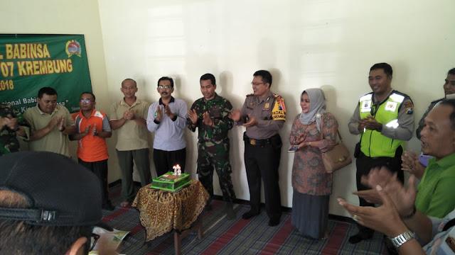 TASYAKURAN HUT TNI KE - 73  TA. 2018, KORAMIL O7/KREMBUNG