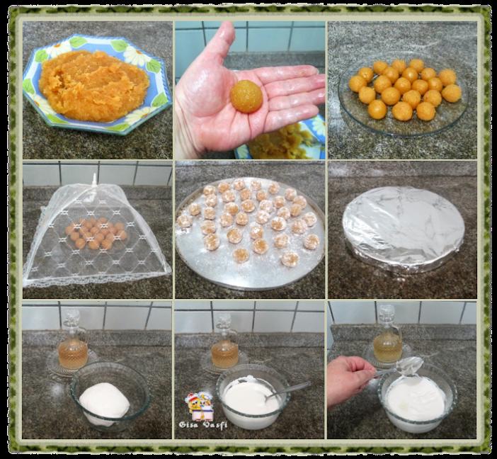 Beijinho de abacaxi fondado 4