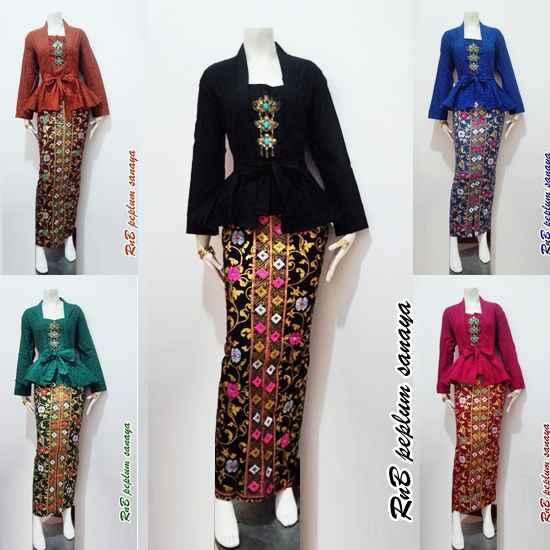 Baju Batik Katun Prada Kombinasi Emboss  Beli Murah