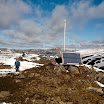 Solar powered light beacon near Hraftinnusker mountain hut, helps people to find the safe haven in bad weather. J-M Kekki