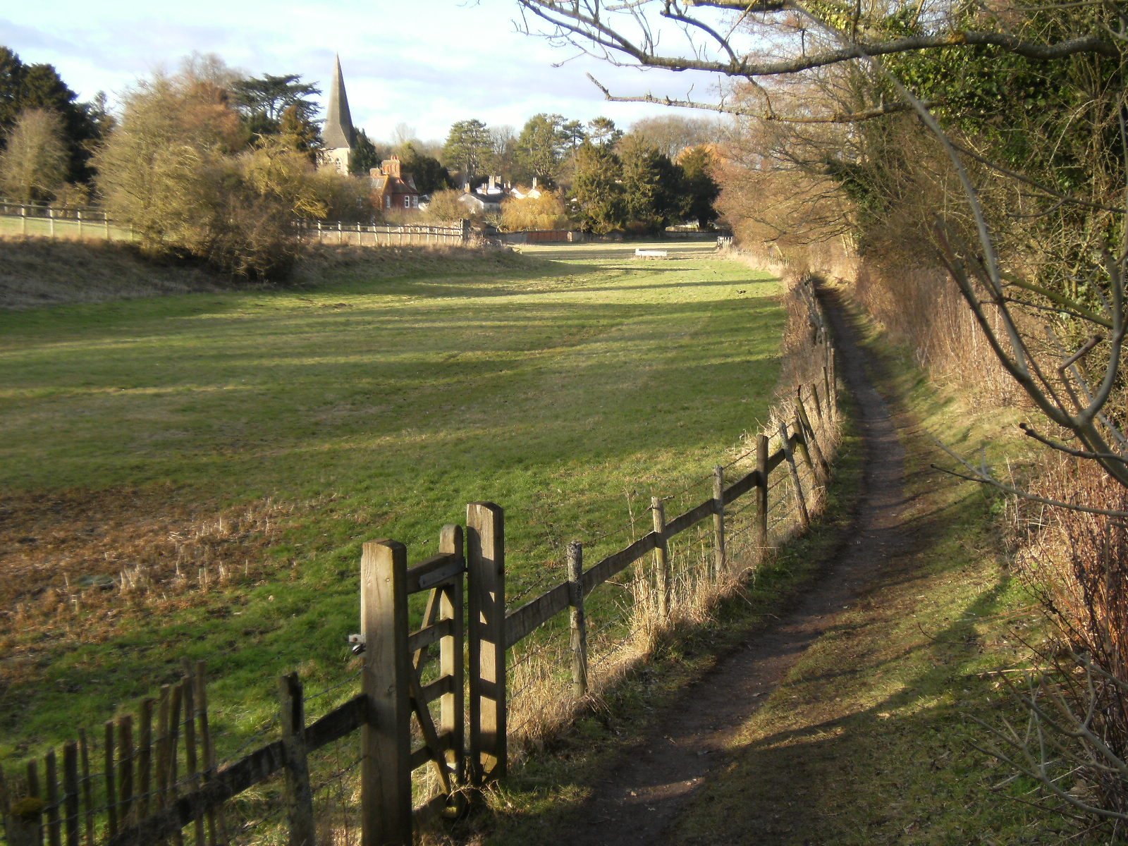 1002110086 Footpath to All Hallows Church, Whitchurch