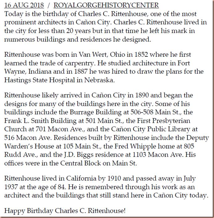 Rittenhouse History