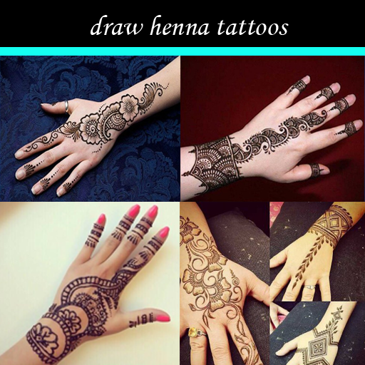 draw henna tattoos