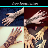 draw henna tattoos