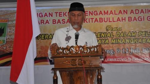 Gubernur Mahyeldi: Generasi Minang Jangan Lebih Barat dari Sumatera Barat