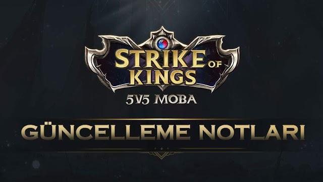 Strike of Kings Güncelleme Notları Yayınlandı