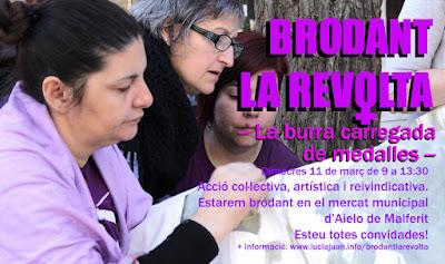 Bordant la Revolta, cartell mercat Aielo de Malferit 2015, La burra carregada de medalles, Lluci Juan
