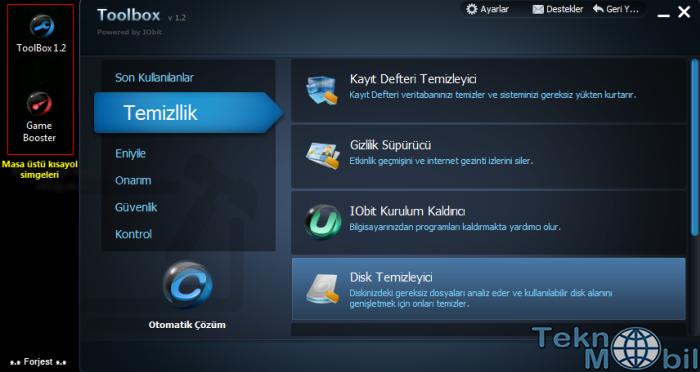 IOBit Toolbox v1.2 Türkçe