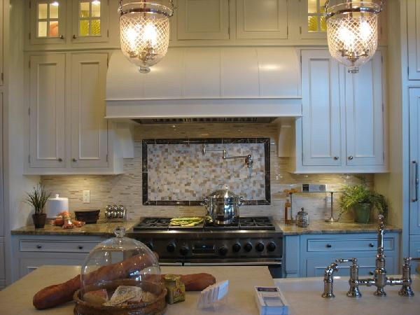 A penchant for pendants the enchanted home a pretty pair of belljar pendants were used for low voltage lighting in this pretty kitchen aloadofball Image collections