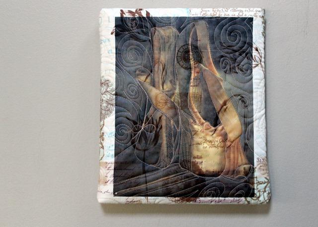Toe Shoe Art Quilt by Kim Lapacek