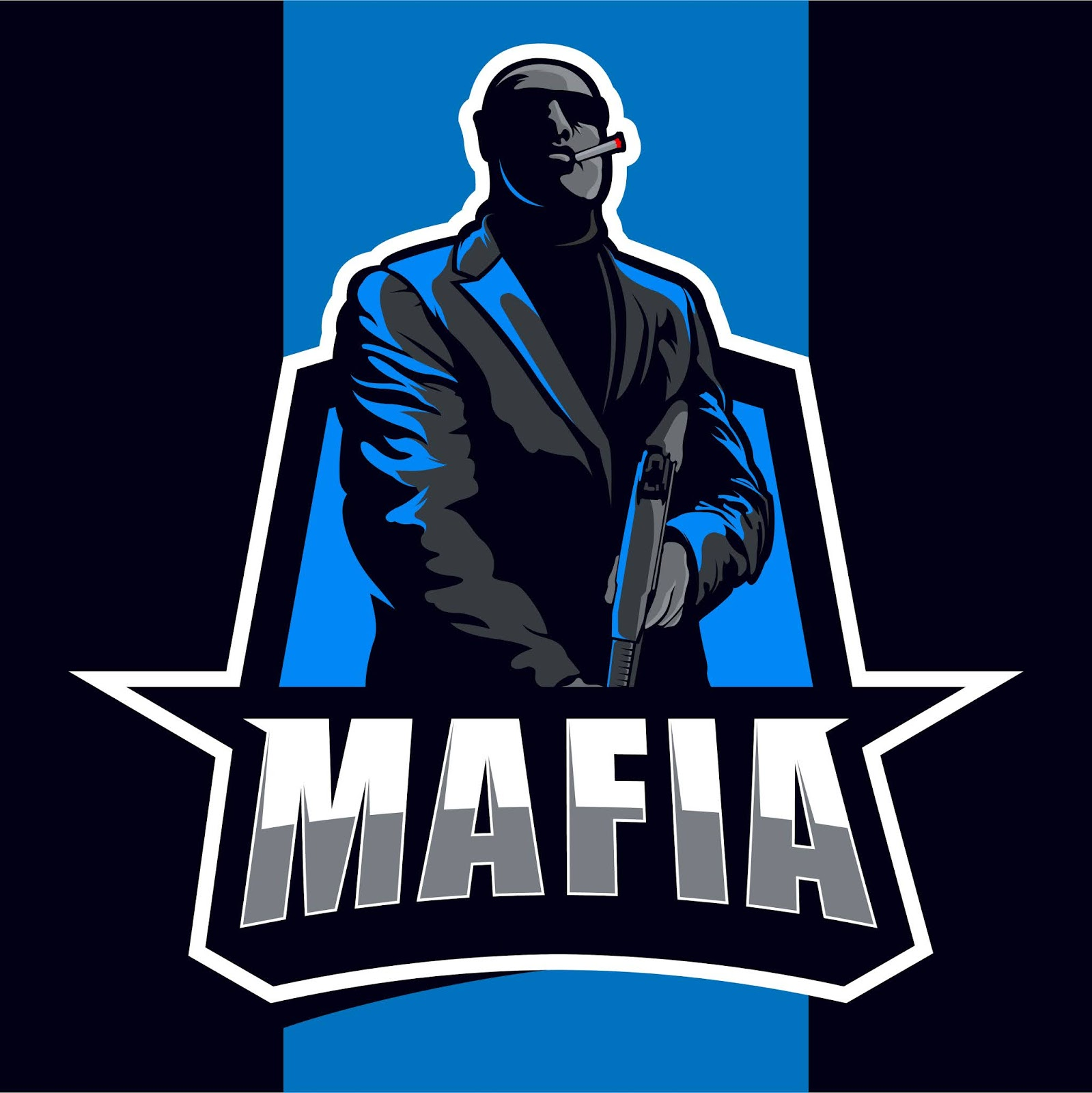 Mafia Mascot Esport Logo Free Download Vector CDR, AI, EPS and PNG Formats