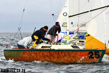 J/22 Hakahana sailing in South Africa