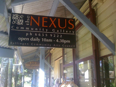 Nexus Community Gallery Bellingen where I volunteer