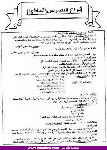 طبيعة اختبار اللغة العربية في شهادة البكالوريا مع بيان طريقة التحضير للحصول على العلامة الكاملة 1.jpg