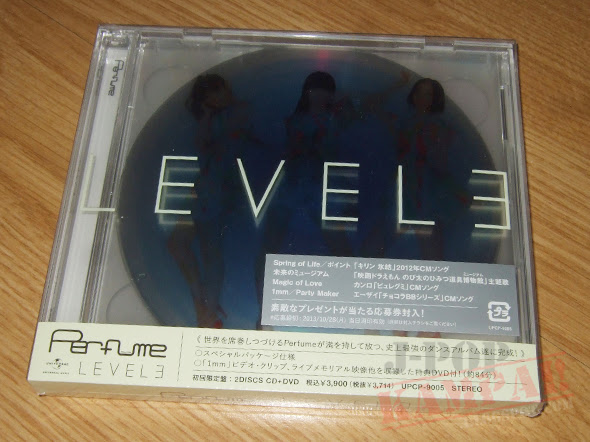 [CD Packaging] Perfume - LEVEL3 (CD+DVD)
