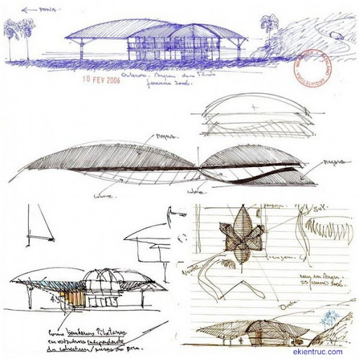 Leaf House 33 750x750 Kiến trúc nhà lá thú vị tại Brazil