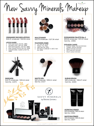 New Savvy Mienrals YL Products 2018 WHO