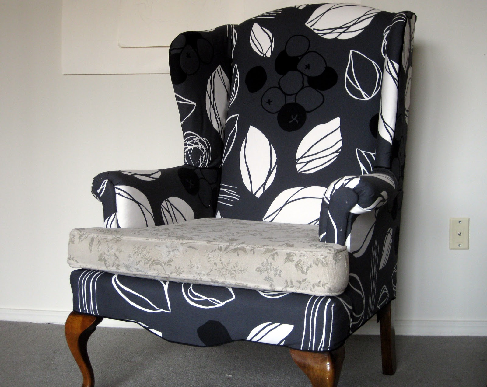 She Manufactures Wingback Chair Re Upholstery Project Recovering