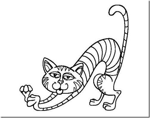 gato a colorear pintaryjugar  (14)