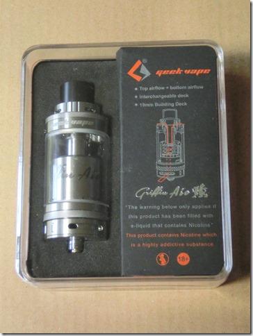 CIMG0452 thumb1 - 【RTA】Geek Vape 「Griffin AIO 25mm RTA」(グリフィン エーアイオー 25㎜ RTA)レビュー。名前に入る「AIO」の文字。果たしてその意味とは・・・【RTA/爆煙/AIO】