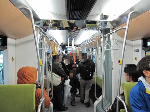 札幌市電 A1201号 車内