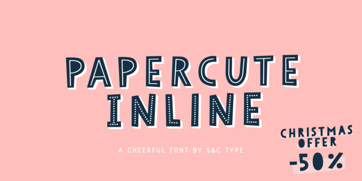 Download Papercute Inline Font Family From S&C Type