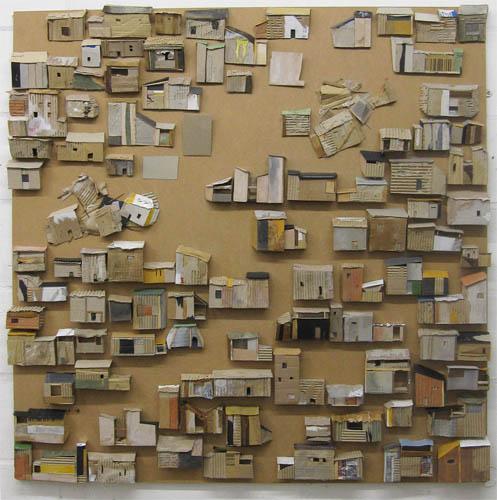Cardboard City mixed media on mdf Bak Street Arts Sheffield 2011