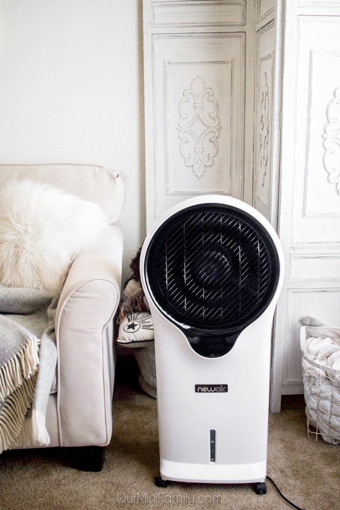 NewAir evaporative cooler in the living room