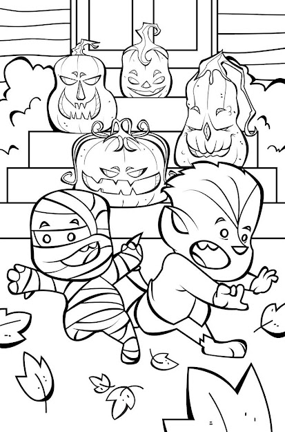Happy Jack Lantern Coloring Page Halloween