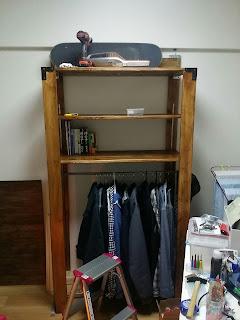 DIYで手作りウッドシェルフ棚