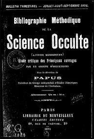 Cover of Papus's Book Bibliographie Methidique de la Science Occulte (1892,in French)