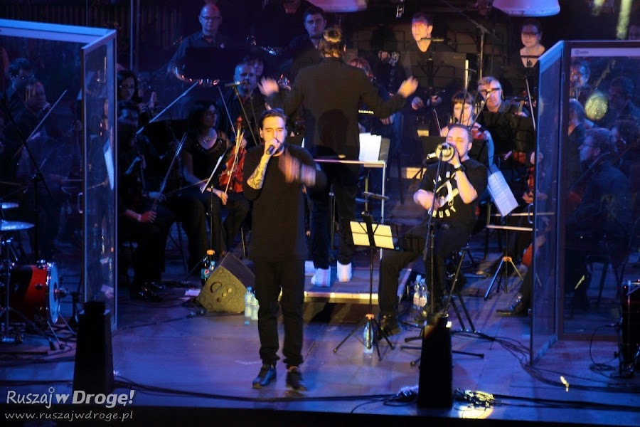 Koncert finałowy Miuosh i NOSPR na terenie Sztolni Królowa Luiza w Zabrzu