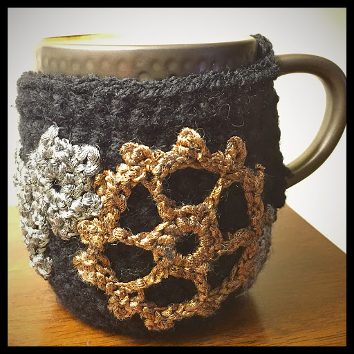 Steampunk mug cozy