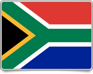 South African framed flag icons with box shadow