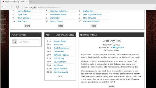 免費下載運動APP|2016 Free Draft Guide app開箱文|APP開箱王