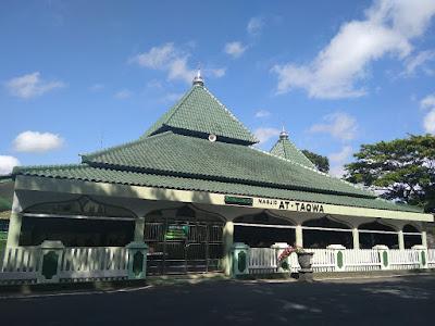 Masjid At-Taqwa, Masjid yang nyaman di lingkungan Rindam IV Diponegoro kota Magelang