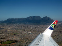 Table Mountain vista from Cape Town - Joburg flight