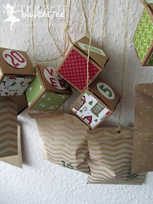 Stampin' Up! - Adventskalender, advent calendar, box, Tüte, bag, 25 and counting, 24 Türchen