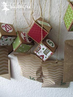 Stampin' Up! - Adventskalender, advent calendar, box, Tüte, bag, 25 and counting, 24 Türchen