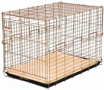 Petmate Deluxe Edition Wire Kennel | Precision Pet Suitcase Crate Gold Home Dog Crate