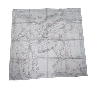 Hermès Pegasus Silk Scarf